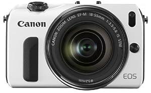 Canon デジタル一眼カメラ EOS M(WH)EF-M18-55 IS STM レンズキット EOSMWH-18-55ISSTMLK