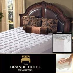 Grande Hotel Collection 5.5 Inch Memory Foam and Fiber Mattress Topper Size Full
