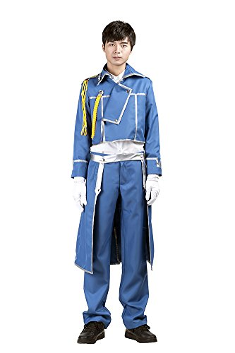 Mtxc Men's Fullmetal Alchemist Cosplay Army Uniform