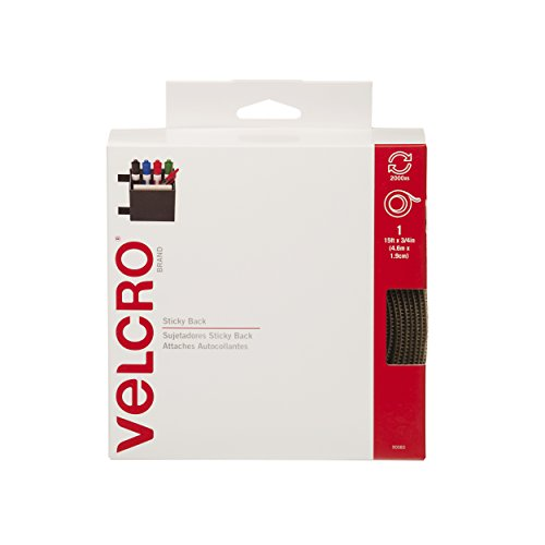 VELCRO Brand-Sticky Back-3/4-Inch Wide Tape, 15-Feet-Beige