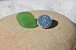 Genuine Kelly Green Sea Glass Tie Tack