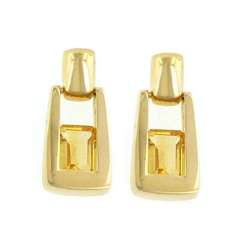14K 7X5 Citrine Earrings