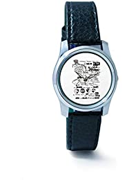 BigOwl Psychedelic Reality Painting Women's Analog Wrist Watch 2114874536-RS2-S-BLK