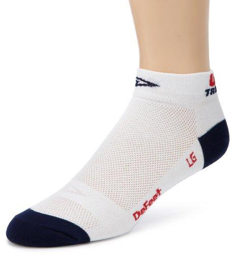 Buy Low Price DeFeet Men's Speede USAT Sock (SPDUST101-P)