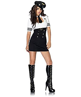 Leg Avenue Womens First Class Captain Adult Costume