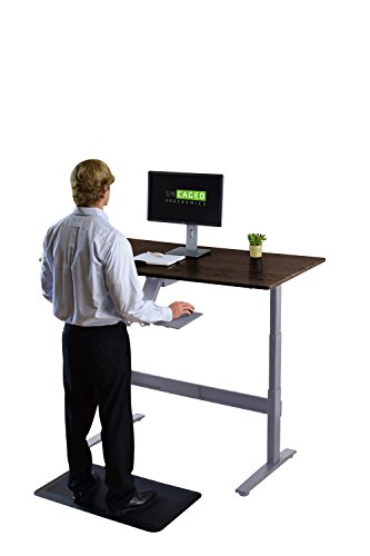 Rise Up Affordable Height Adjustable Standing Office Computer Desk BUNDLE  WITH KT2 Ergonomic Keyboard Tray, Anti Fatigue ...