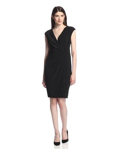 Chetta B Women's Drape Side V-Neck Dress