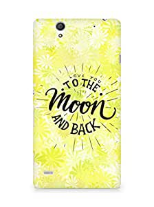 AMEZ love you to the moon and back Back Cover For Sony Xperia C4