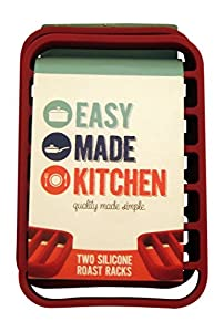 Easy Made Kitchen Silicone Roasting Rack Set, 2 Racks Per Package