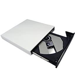 White NEW Slim USB 2.0 External Slim USB 2.0 CD-ROM Drive for ASUS Eee PC 900HA 900 901 904HA 1000HE 1000 1002HA 1005HA 1008HA N10J-A2 N10J-A1 N10Jc-A1 sereis Laptops