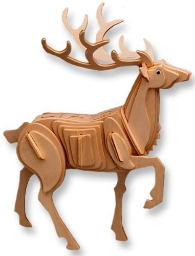 Crazy Genie 3-D Wooden Puzzle-Affordable Gift for your Little One (Plum-Blossom Deer)
