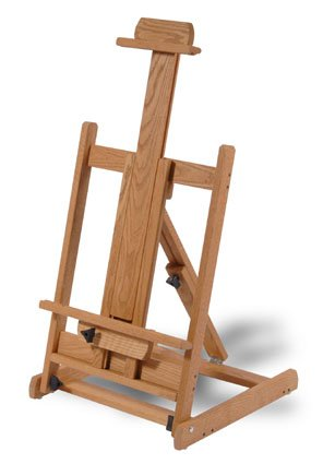 High Quality Oak Artists Easel Holds Canvases Or Display Items Up To 45
