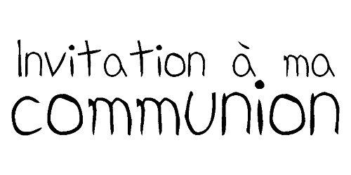 Typ E Text Holz Stempel Einladung Kommunion eine Ma