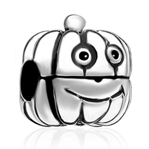 CharmsStory Halloween Pumpkin Jack-O-Lantern Clip Lock Stopper Charm Beads Fit Pandora Jewelry Charms Bracelet