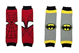 Rush Dance Set of 2 Super Heroes Batman & Spiderman Baby/ Toddler Leg warmers