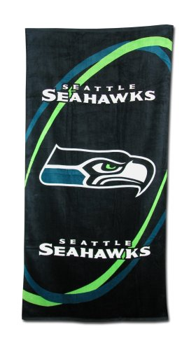 Seattle Seahawks Fiber Reactive Pool/Beach/Bath Towel (Team Color) at Amazon.com