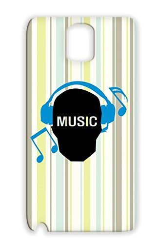 Rugged Headphones Earphones Geek Music Miscellaneous Funny Music Skull Skull Listen To Music Notes Geek Text Note For Sumsang Galaxy 3 Navy Skull Case Cover