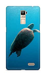 Amez designer printed 3d premium high quality back case cover for Oppo R7 Plus (Turtle Undersea)