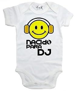 Dirty Fingers, Nacido Para DJ, Bebés Body marca Dirty Fingers