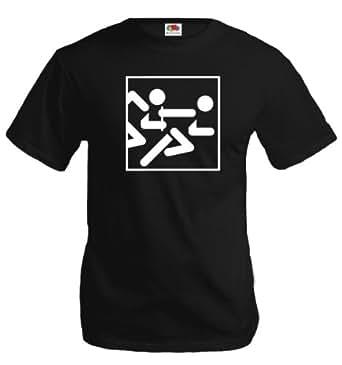 Amazon.com: buXsbaum T-Shirt Relay Race-Pictogram: Clothing