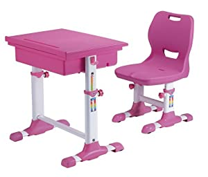 ST 2011 Childrens Height Adjustable Desk And Chair Set