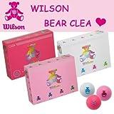 Wilson(ウィルソン) ベアー レディース BEAR CLEA ベア クレアボール 1ダース(12球) ホワイト