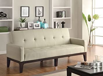 Coaster Home Furnishings Contemporary Sofa Bed, Cream