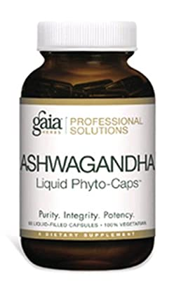 Gaia Herbs Professional Solutions Ashwagandha, 60 Liquid Phyto-Caps