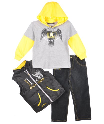 "Rocawear ""The Rocawear Code"" 3-Piece Outfit (Sizes 2T - 4T) - lemon, 2t"