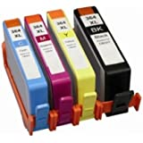 4 XL (1 SET) Compatible HP 364XL Ink Cartridges Replacement for Photosmart 5510, 5511, 5512, 5514, 5515, 5520, 5522, 5524, 6510, 6512, 6515, 6520, 7515, B010a, B109a, B109d, B109f, B109n, B110a, B110c, B110e, Photosmart Plus B209a, B209c, B210a, B210c, B210d, Deskjet 3070A, 3520, 3522, 3524, Officejet 4610, 4620 | High Capacity
