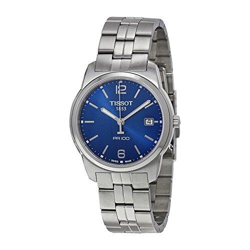 Tissot Men's T0494101104701 PR 100 Blue Dial Bracelet Watch (Tissot Blue Dial Mens Watch compare prices)
