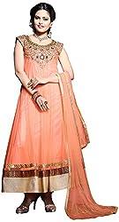 Vraj Raj Tex Women's Georgette Unstitched Dress Material (Orange)