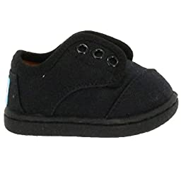 TOMS Kids Unisex Paseo (Infant/Toddler/Little Kid) Black on Black Canvas Sneaker 7 Toddler M