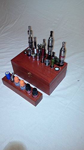 electronic-cigarette-holder-wooden-display-case-e-cig-handcrafted-organizer-stand-holds-aspire-kange