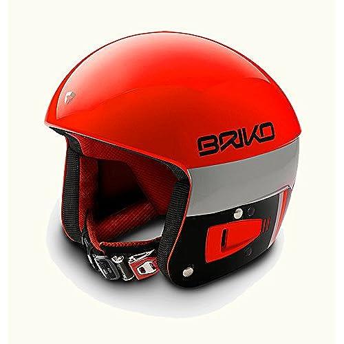[해외] BRIKO(브리고)VULCANO 6.8 FIS6.8기준 레이싱 스노우 헬멧 SH0001- (SIZE:60|COLOR:A018오렌지 플론×블랙)