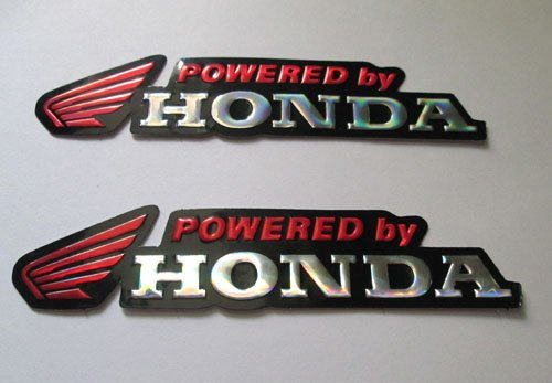 2x NEW HONDA Wing Foil Decal Sticker Red #02 (Honda Wings compare prices)
