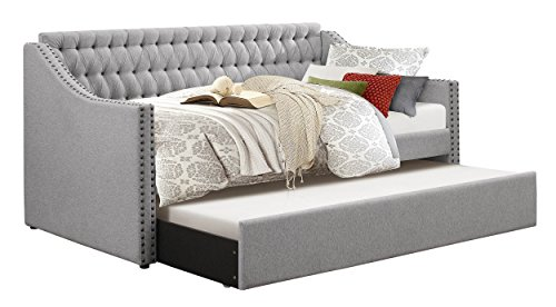 Homelegance Sleigh Daybed with Tufted Back Rest and