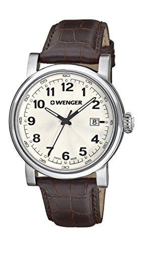 Wenger-Mens-1041101-Analog-Display-Swiss-Quartz-Brown-Watch