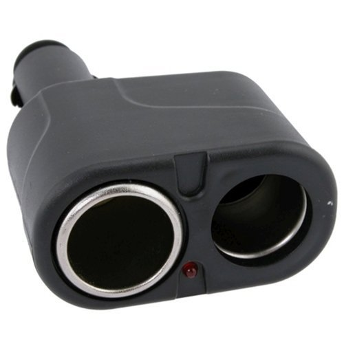 niceeshop(TM) 12V DC Dual USB Auto Ladegerät Zigarettenanzünder Doppel Strom Adapter Splitter, Schwarz