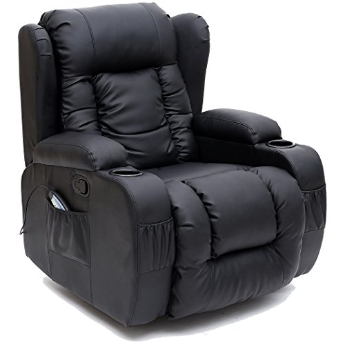CAESAR-10-IN-1-WINGED-LEATHER-RECLINER-CHAIR-ROCKING-MASSAGE-SWIVEL-HEATED-GAMING-ARMCHAIR