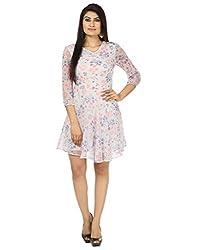 Coash Women Skater Dress (KR-0616-31-XL) White Floral - XL