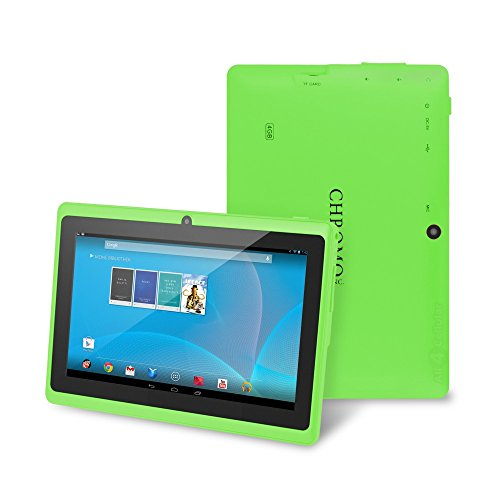 Chromo Inc 7 Inch Tablet Google Android 4.1. With 1024X600 Resolution, Multi-Touchscreen, Dual Camera , Wi-Fi, Google Play, 3D Game Supported - [Nov 2014 Edition] - Green