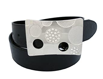 """Truth-Diva Black """"Genuine Non-Leather"""" Vegetarian Belt With Nickel-Free Buckle For Women's 34"""""""