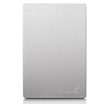 Seagate Backup Plus Slim STDS1000300 1TB Portable External Hard Drive (Silver/Black)