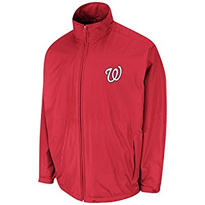 Washington Nationals Red Authentic Triple Climate 3-In-1 On-Field Jacket by Majestic