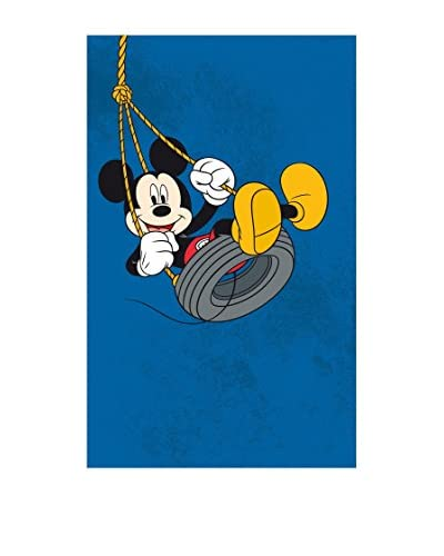 ABC Alfombra Comfort Line Mickey On Swing Azul 100 x 150 Cm