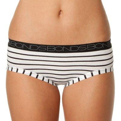 Bonds Womens Underwear Whitewash Black Cottontails Midi Brief