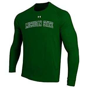 NCAA Michigan State Spartans Long Sleeve Performance NuTech Tee by Under Armour