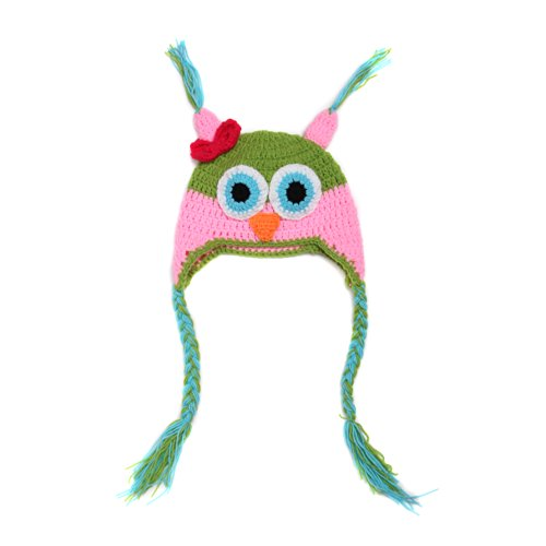 JTC Baby Girl Boy Hat Beanie Knit Cap Photo Prop Outfit Owl Colorful