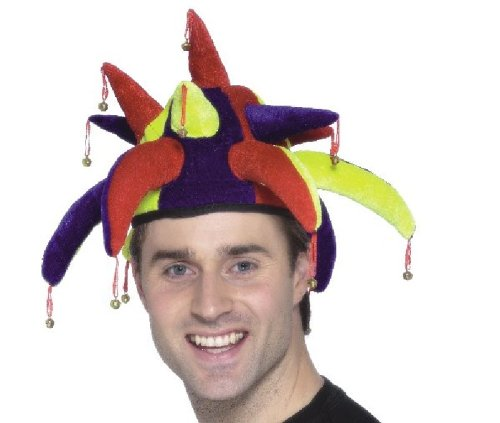 Smiffy'S Jolly Jester Hat Multi Coloured For Fancy Dress